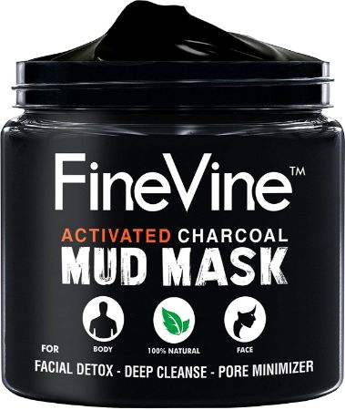 Activated Charcoal Mud Mask - Made in USA by FineVine