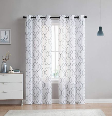 2 Pack: VCNY Home Charlotte Embroidered Curtain Panels