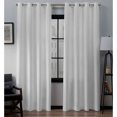 Exclusive Home Curtains Loha Linen Window Curtain Panel Pair