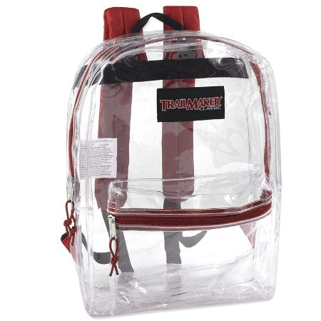 Clear Backpack With Reinforced Straps by Trail maker
