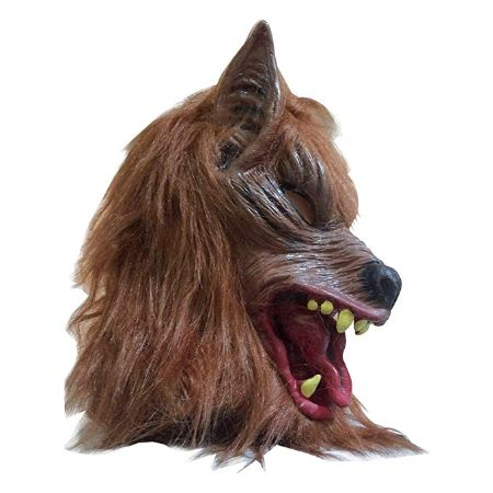 Costumes Creepy Scary Full Face Werewolf Mask