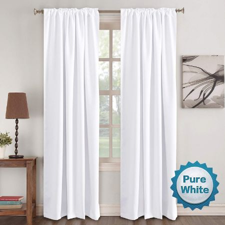 Window Curtain Panels Insulated Thermal Back tab/Rod