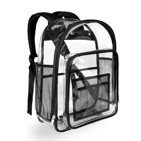 Heavy Duty Black Clear Backpack by Carry360
