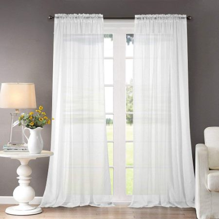 """Dreaming Casa Solid Sheer Curtains 52"""" W x 96"""" L"""
