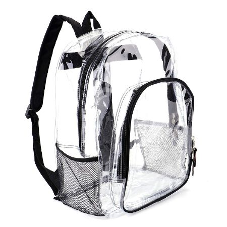 Heavy Duty Transparent Clear Backpack by Jomparo
