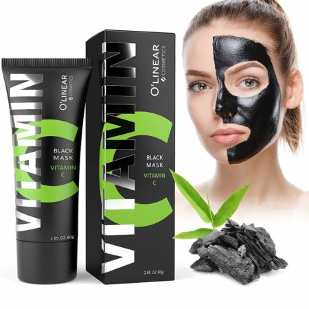 Black Charcoal Mask - Face Peel Off Mask with Organic Bamboo and Vitamin C