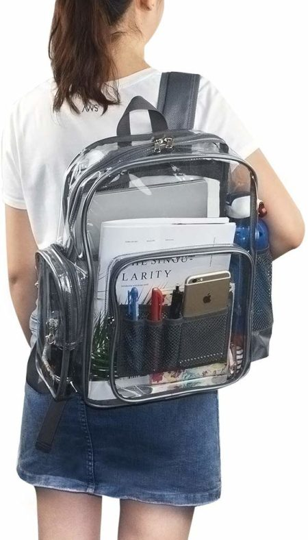Clear Transparent PVC School Backpack