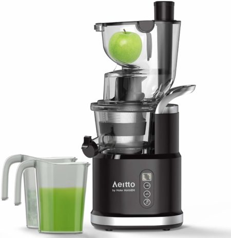 Cold Press Slow Juicer, Aeitto Portable