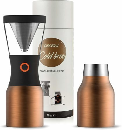 Asobu Coldbrew Portable Cold Brew Maker With a Vacuum Insulated