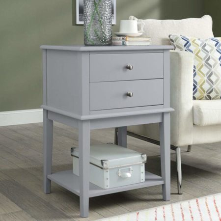 Coniffer Grey Nightstands Modern End Table