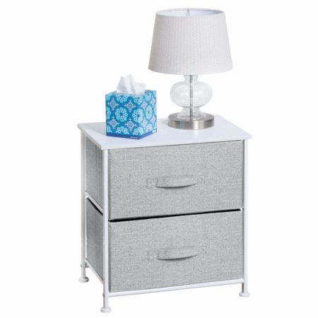 mDesign Night Stand/End Table Storage Tower