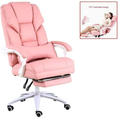 HDZWW Pink Gaming Chairs Racing Style