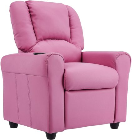 JC Home Kids Recliner with Cup Holder