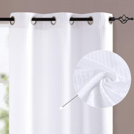 jinchan White Curtains for Bedroom 84 inches