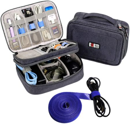 Electronics Organizer Travel Cable Cord Wire Bag