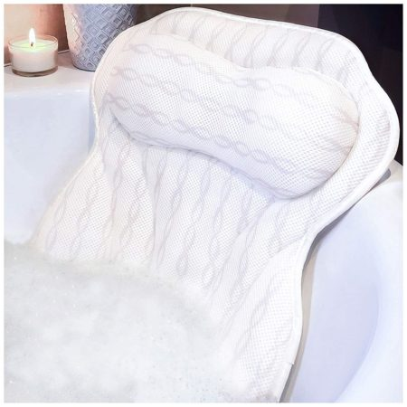 Ergonomic Bath Pillows for Tub Neck and Back Support