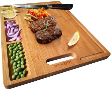 Large Organic Bamboo Cutting Board