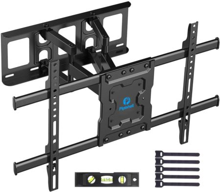 Full Motion TV Wall Mount Bracket Dual Articulating Arms
