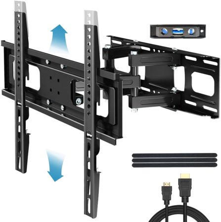 "Everstone TV Wall Mount for Most 32""-65"" TVs Heavy Duty Dual Arm"