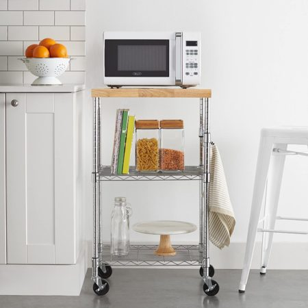 AmazonBasics Kitchen Rolling Microwave Cart