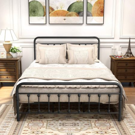 DUMEE Black Metal Bed Frame