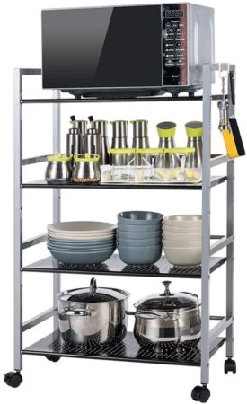 GONGFF 4-Tier Kitchen Storage Cart