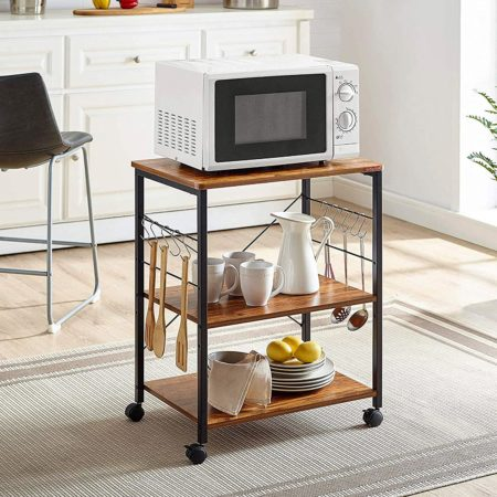 Mr IRONSTONE Kitchen Microwave Cart
