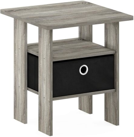 Furinno 11157GYW end table with storage