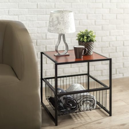 Zinus Modern Studio Collection end table with storage